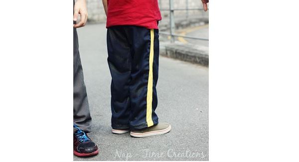 Free pattern: Boys mesh sportswear pants