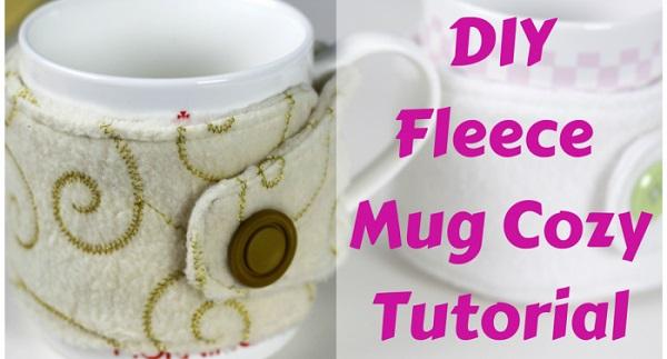 Tutorial: Fleece mug cozy