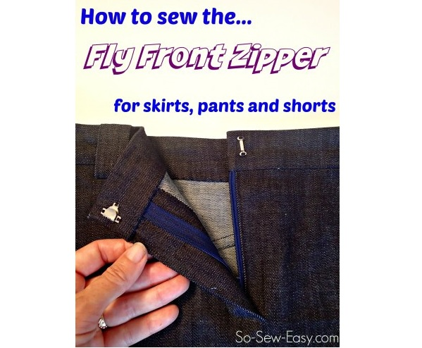 Video tutorial: How to install a fly front zipper