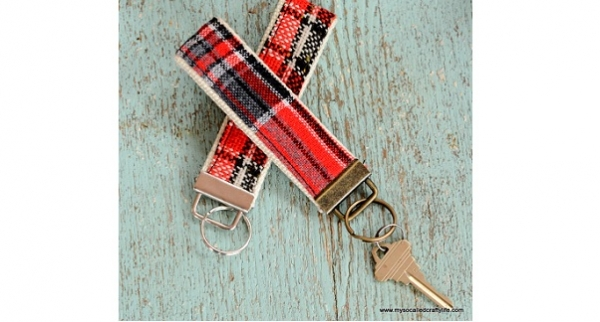 Tutorial: Vintage fabric key fob
