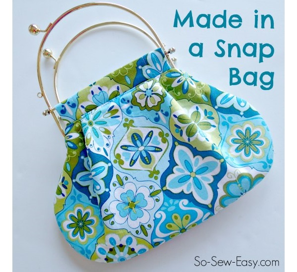 Free pattern: Made In a Snap purse with removable frame