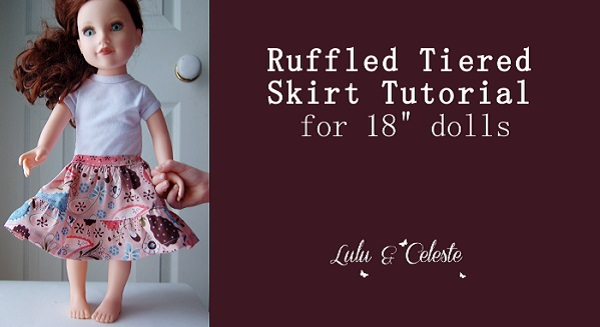 "Tutorial: Tiered skirt for an 18"" doll"