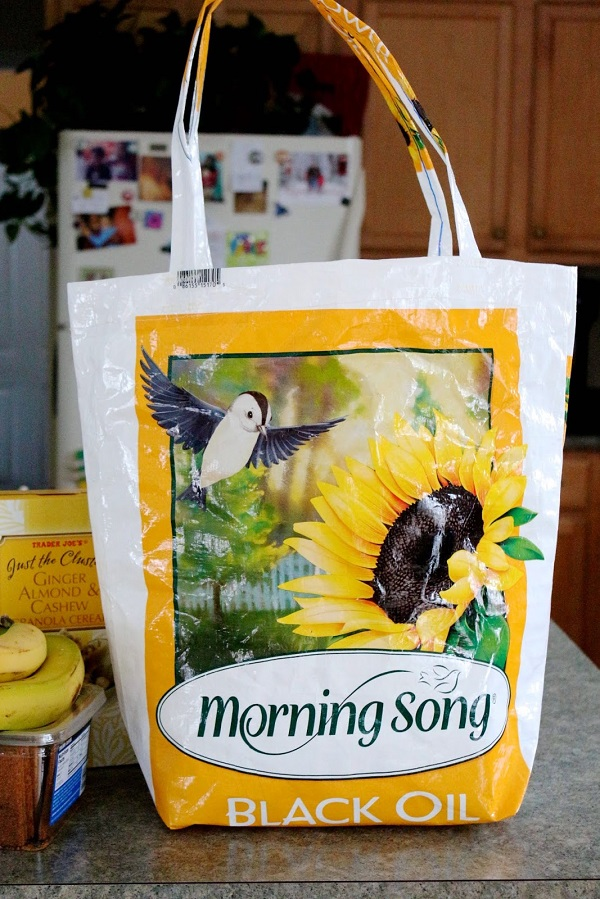 Tutorial: Upcycled reusable grocery bag