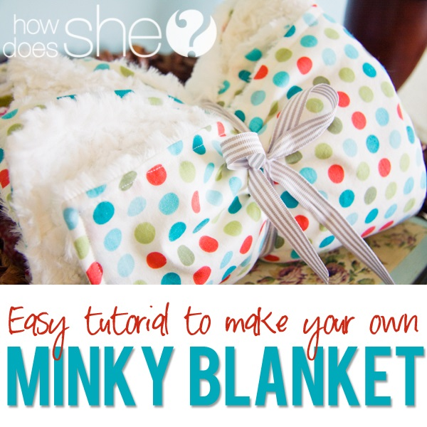 Tutorial: Minky-backed baby blanket