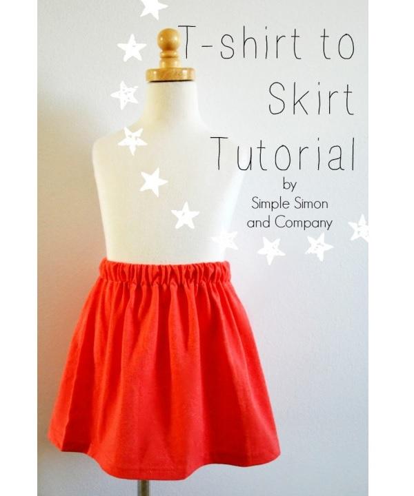Tutorial: Easy to make t-shirt skirt