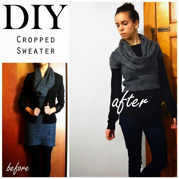 Tutorial: DIY cropped sweater – Sewing