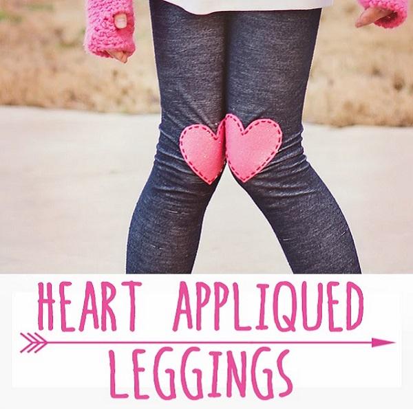 Tutorial: Heart applique leggings