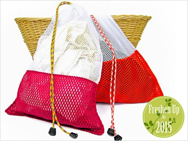 Tutorial: Drawstring mesh laundry bags