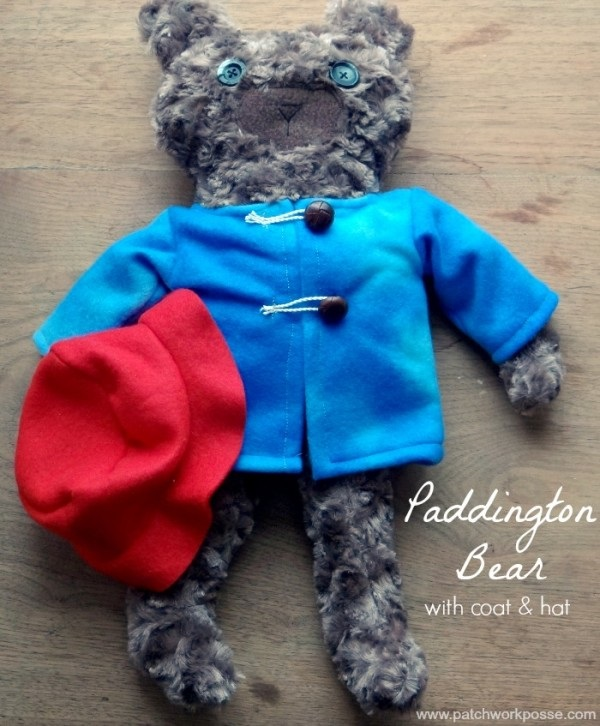 Free pattern: Paddington Bear softie, with his hat and coat