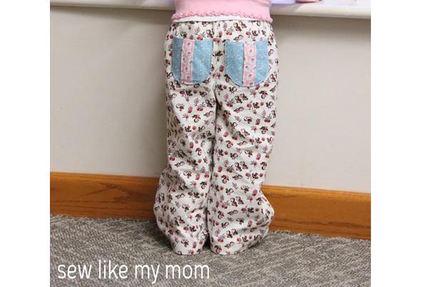 Free pattern: Pine Cone Pants in kid sizes