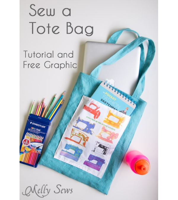 Tutorial: Sew an easy beginner tote bag, plus a snap-on bag organizer