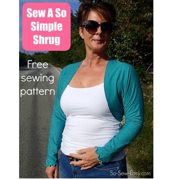 Free pattern: Sew a Simple Shrug