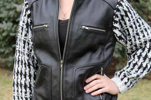 Tutorial Sweater Biker Jacket Mash Up Sewing