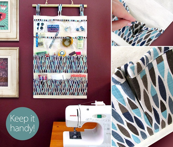 Tutorial: Make this hanging organizer to get the clutter off your sewing table