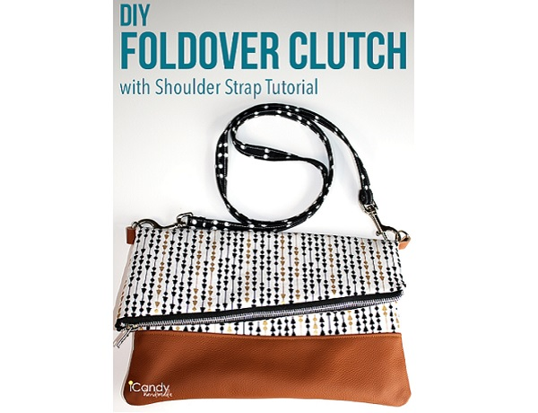 Tutorial: Foldover clutch with a removable shoulder strap