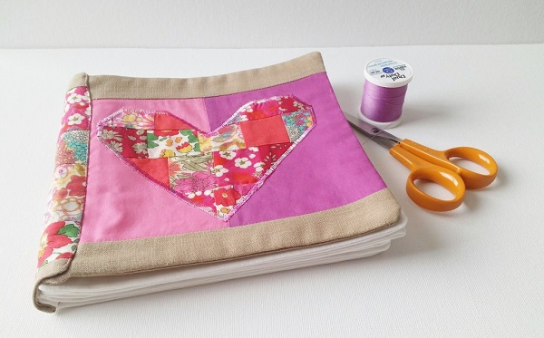 Tutorial: Make a keepsake book from your fabric scraps