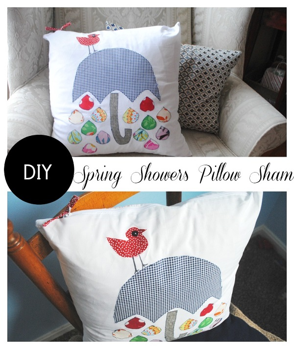 Free pattern: Spring Showers pillow cover