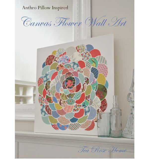 Tutorial: Anthro style flower wall art