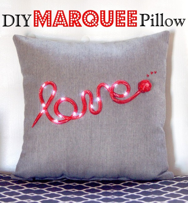 Tutorial: Light up marquee pillow