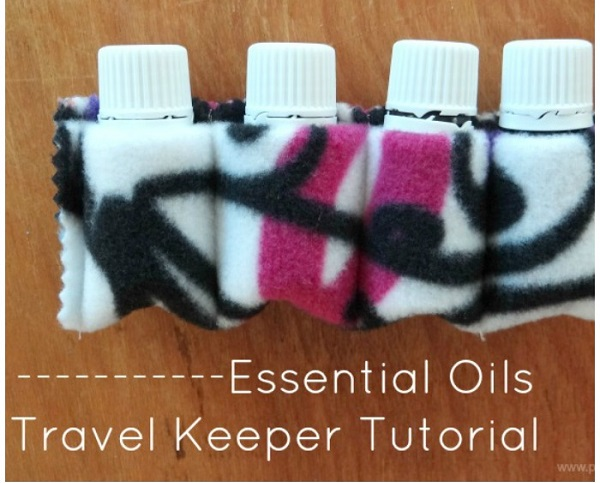 Tutorial: Simple fleece essential oils carrier