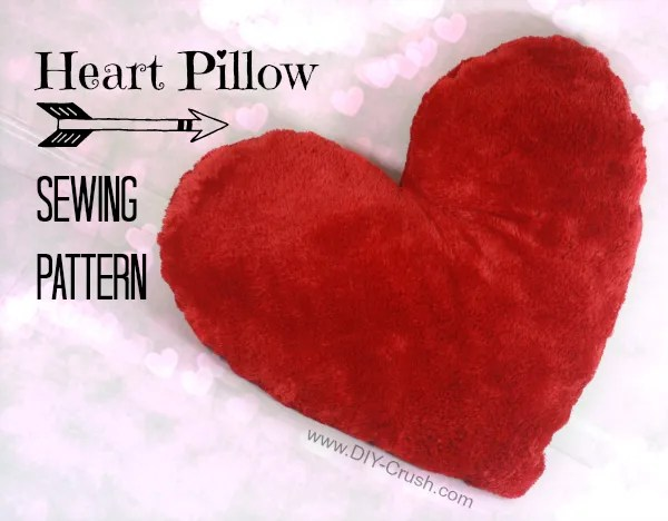 heart template for sewing - free pattern heart shaped valentine s pillow sewing