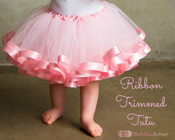 Tutorial: Satin ribbon trimmed tutu