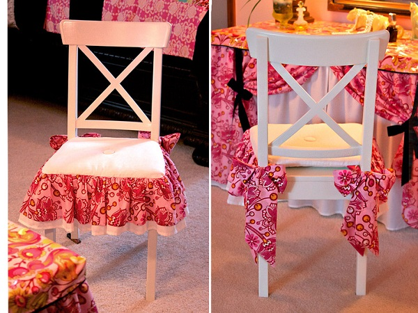 Tutorial: Bows & Ruffles Vanity Chair Cushion