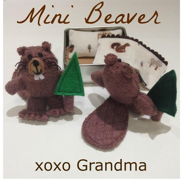 Free pattern: Beaver softie