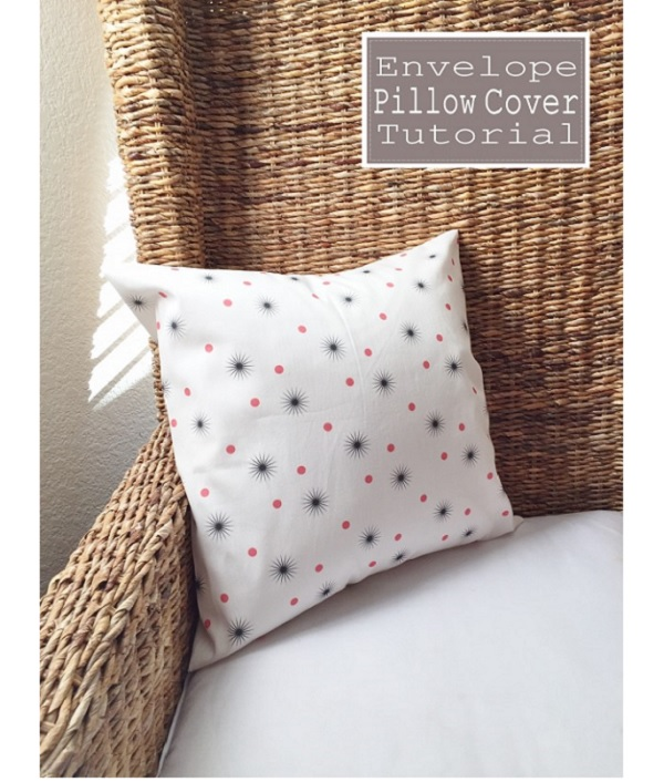 Tutorial: Easy pillow cover with an envelope closure