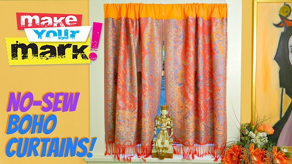 Tutorial: No-sew boho curtains from a scarf