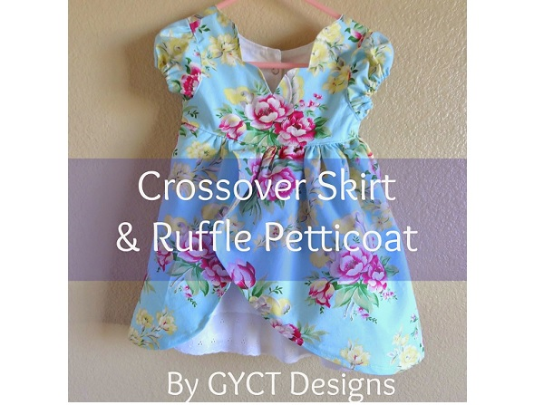 Tutorial: Crossover skirt and ruffled petticoat for a little girl's dress
