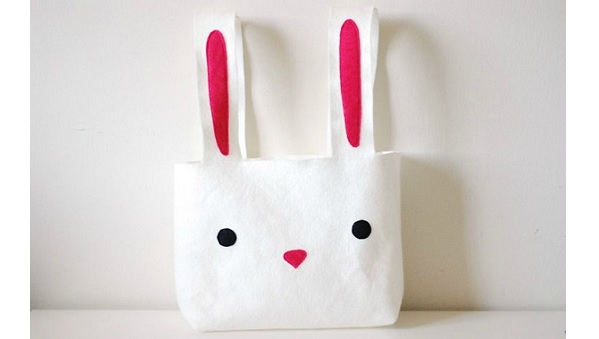 Tutorial: Easy felt Easter bunny basket