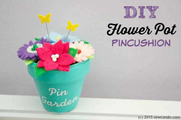 Tutorial: Scented flower pot pincushion