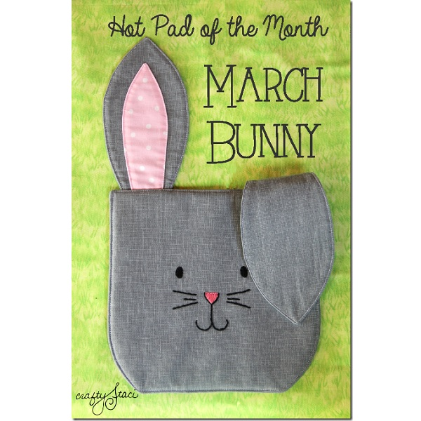 Free pattern: Easter bunny hot pad
