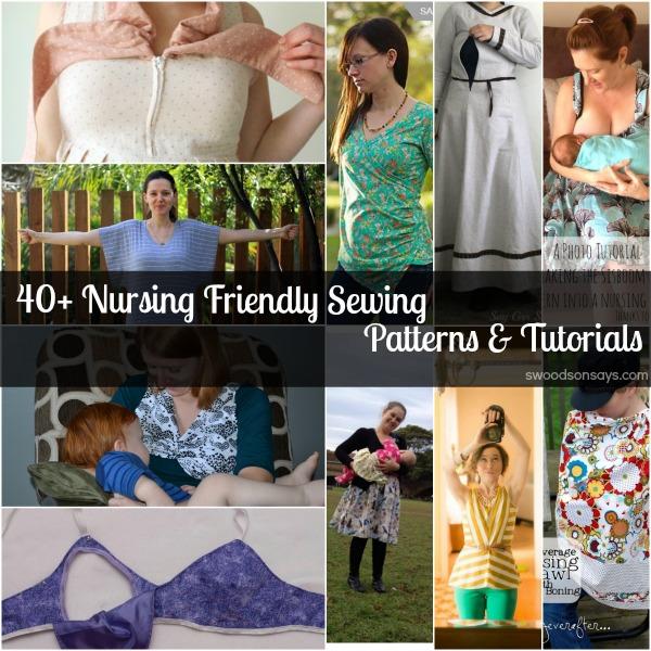 Round-up: 40 nursing friendly sewing patterns and tutorials