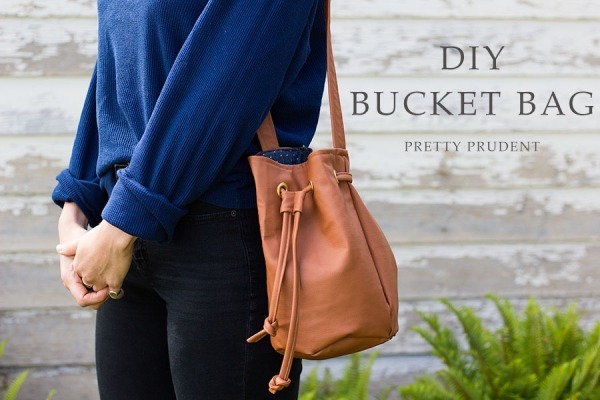 Tutorial: Faux leather bucket bag