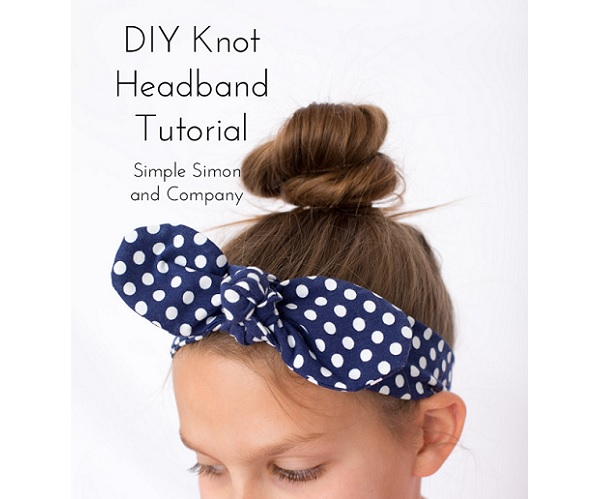 Tutorial: Knotted headband from knit fabric