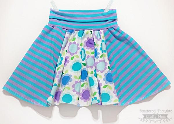 Free pattern: Roller Skate Circle Skirt for girls