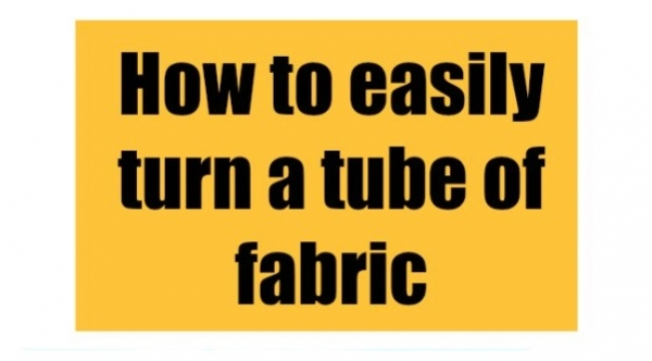 Tutorial: Turn a narrow tube of fabric using household items