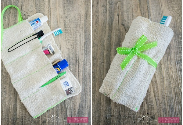 Tutorial: Simple travel kit from a washcloth