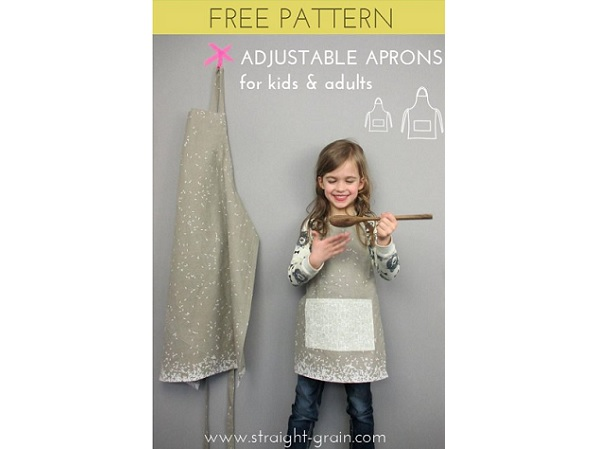 Free pattern: Adjustable apron for kids and adults