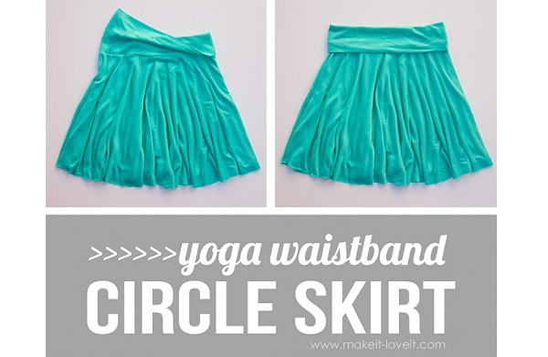 Yoga waistband circle skirt. So simple, so cozy! | sewing.