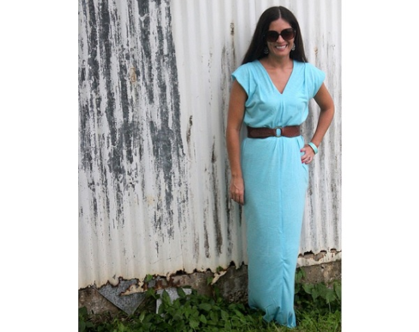 Tutorial: Super easy jersey knit maxi dress