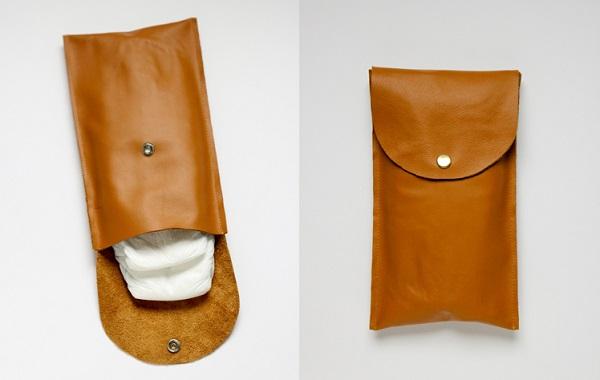 Tutorial: Simple leather diaper clutch