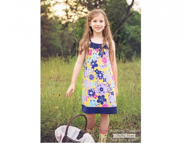 Free pattern: Girls Easy Breezy Halter Dress