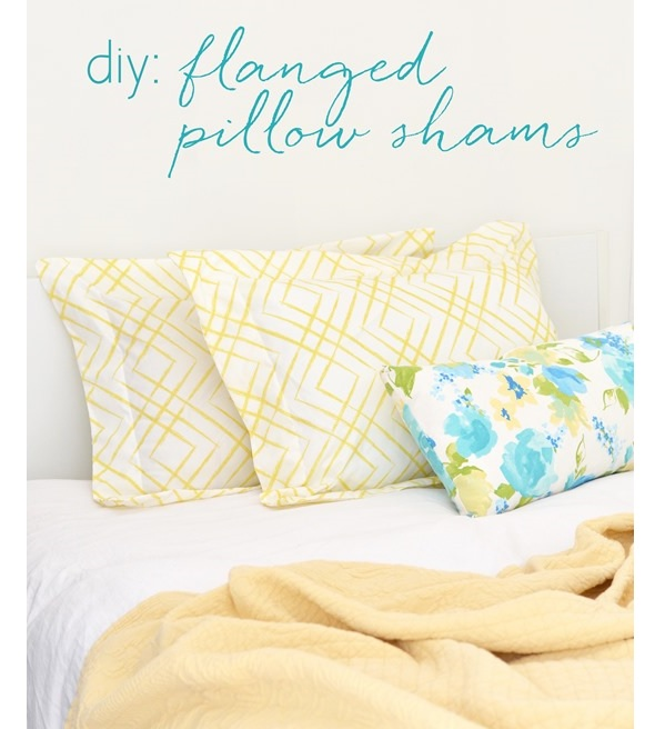 Tutorial: Flanged pillow shams