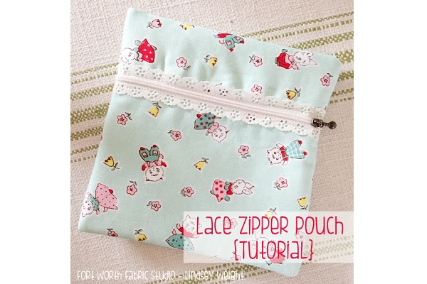 Tutorial: Exposed lace zipper pouch