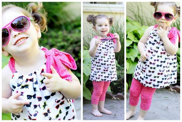 Tutorial: Easy pillowcase tunic top for little girls