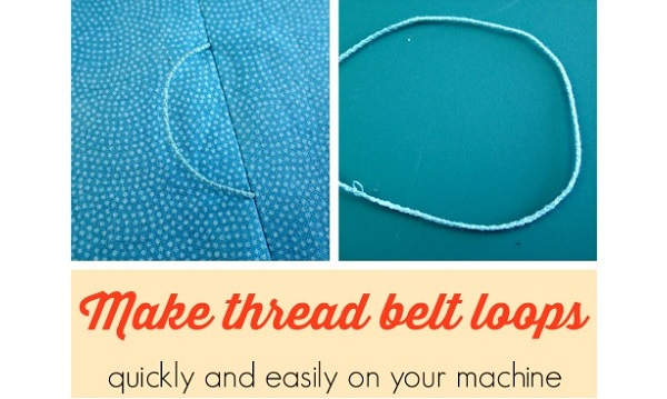 Tutorial: Thread belt loops made on your sewing machine