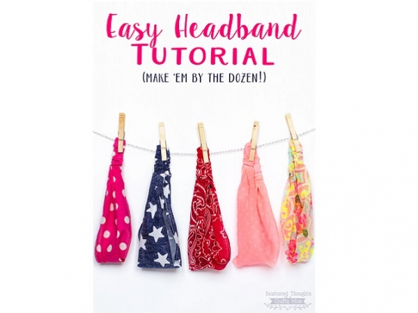 Tutorial: Easy fabric headband in kid and adult sizes